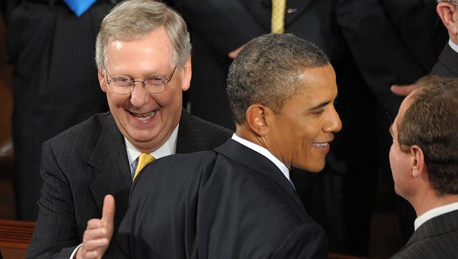 President Obama and Senate Republican leader Mitch McConnell, R-Ky.