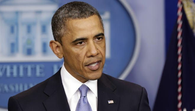 "President Obama delivers a statement late Tuesday at the White House on the ""fiscal cliff"" deal."