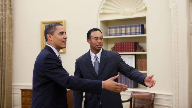 President Obama and Tiger Woods in 2009