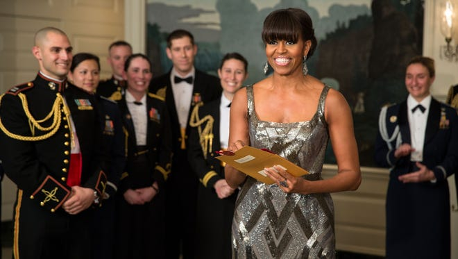 First lady Michelle Obama presents Oscar for Best Picture.