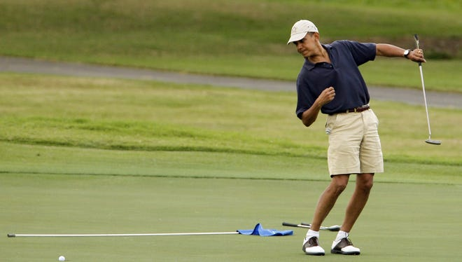 President Obama on the golf course in 2009