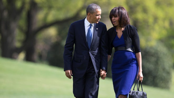 President Obama and first lady Michelle Obama