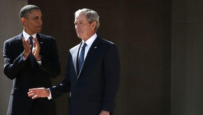 President Obama and President George W. Bush