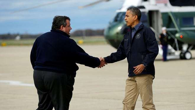 President Obama and Chris Christie back in October