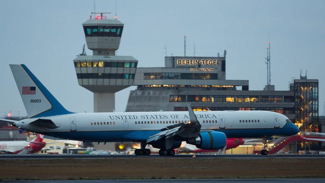 Air Force Two in Germany in February