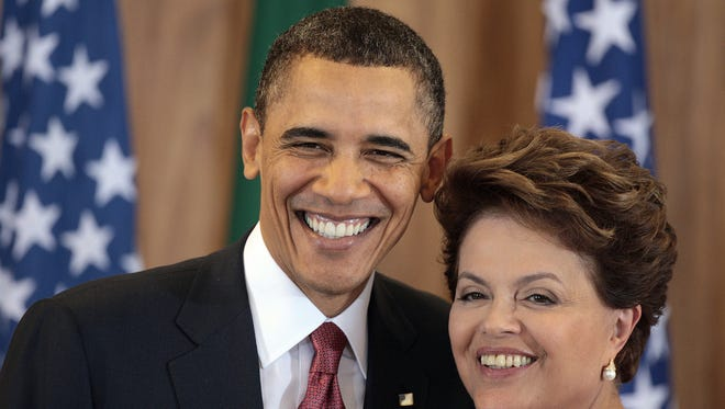 President Obama and Brazilian President Dilma Rousseff in 2011.