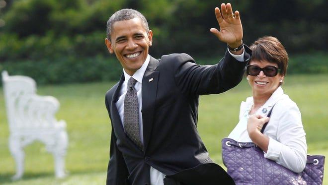 President Obama and senior adviser Valerie Jarrett
