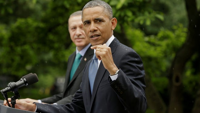 President Obama and Turkish Prime Minister Recep Tayyip Erdogan at the White House in May.