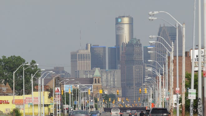 The Detroit skyline