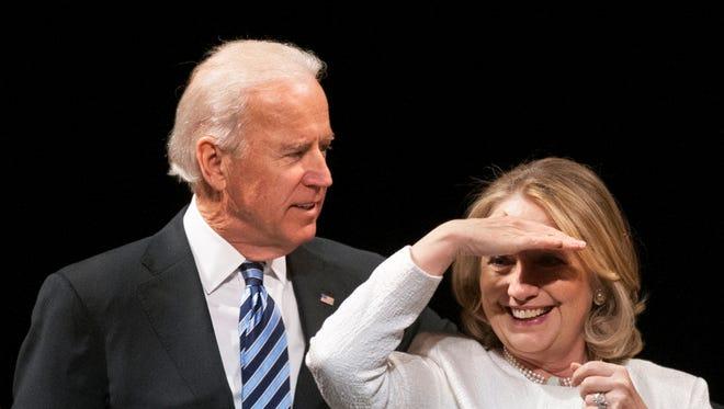 Vice President Biden and former Secretary of State Hillary Rodham Clinton.