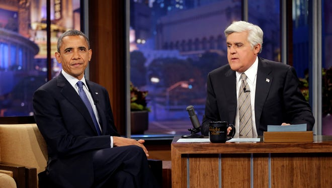 President Obama on Jay Leno's show in 2012.