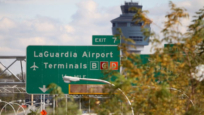 A view of LaGuardia Airport -- still closed as of Oct. 31, 2012, because of Hurricane Sandy -- is shown in this photo from the same day.