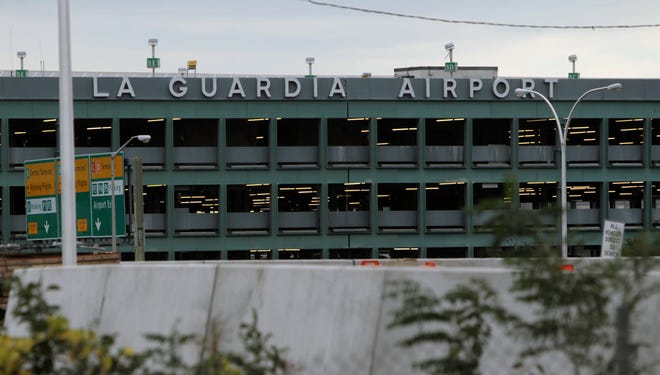 A view of LaGuardia Airport as it remained  closed after Hurricane Sandy on Oct. 31, 2012.