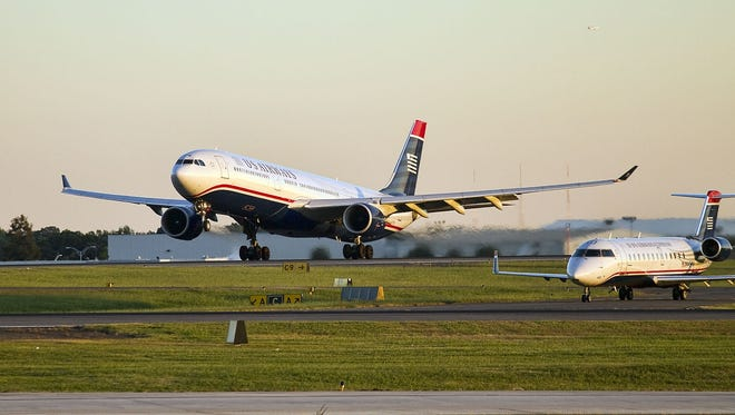 An undated photo of a US Airways Airbus A330 aircraft.