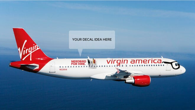 This image provided by Virgin America is meant to stoke the imagination of those who might be interested in purchasing its $49,000 Cyber Monday deal.