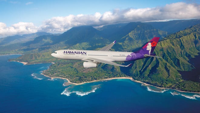 An image of a Hawaiian Airlines Airbus A330 jet, provided by the airline.