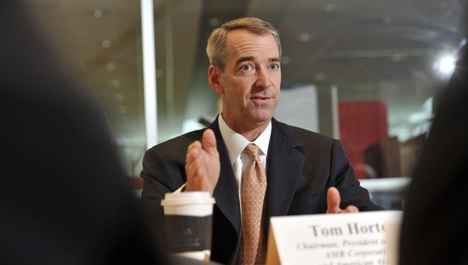 Tom Horton, CEO of American Airlines parent AMR, speaks to the USA TODAY Editorial Board on July 19, 2012.