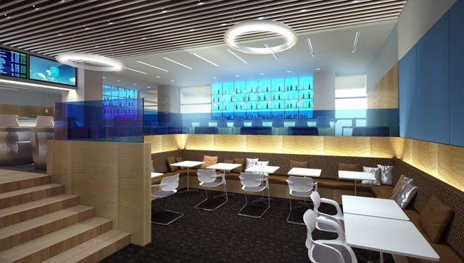 An image of Airspace's new lounge at JFK.