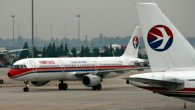 This photo from Aug. 28, 2007, shows China Eastern Airlines aircraft at Beijing's airport.