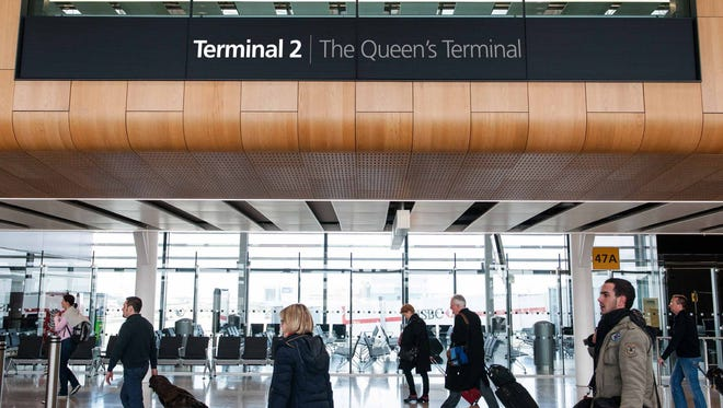 """An image showing what signage will look like at Heathrow's new """"Terminal 2: The Queen's Terminal."""""""