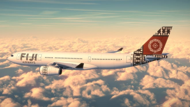 A rendering of a Fiji Airways Airbus A330 in the company's new livery.