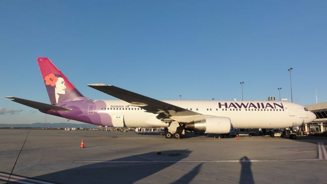 A Hawaiian Airlines Boeing 767 at Oakland International Airport on April 8, 2011.