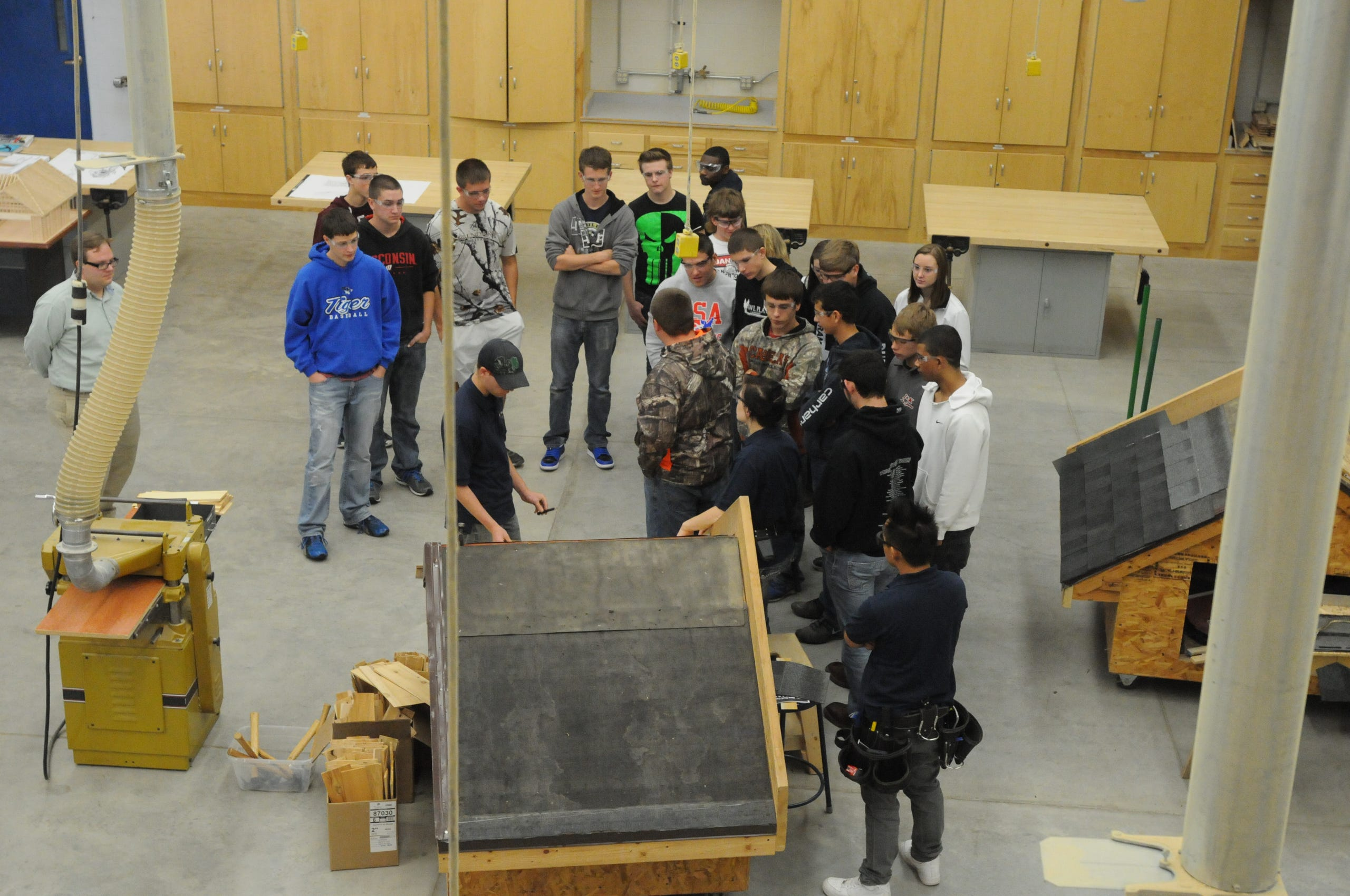 High School Students Learn About Woodworking Careers