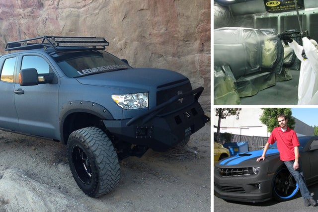 Rhino Lined Truck >> Pickup Owners Spray The Whole Truck With Bedliner Plastic