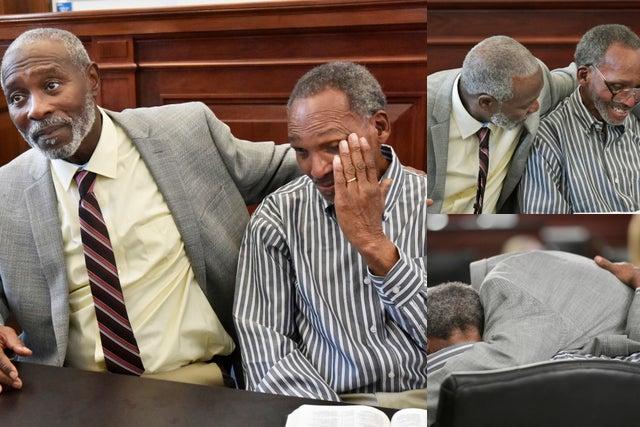 Deux hommes libérés après 43 ans de prison pour un meurtre qu'ils n'ont jamais commis (photos)