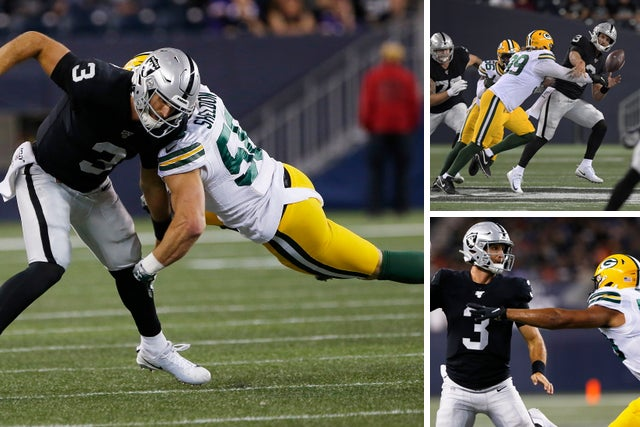 Nfl Preseason Packers Raiders Play On Shortened Field In Winnipeg