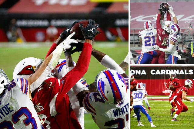 Hail Murray Kyler Murray Connects With Deandre Hopkins With Seconds Remaining To Beat Bills