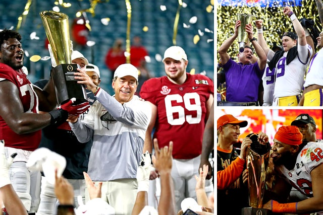 College football national champions: Title winners since 1980