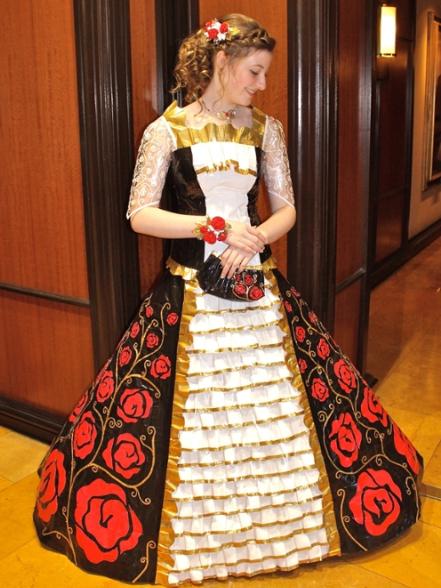 Baylee DeVos duck tape prom dress