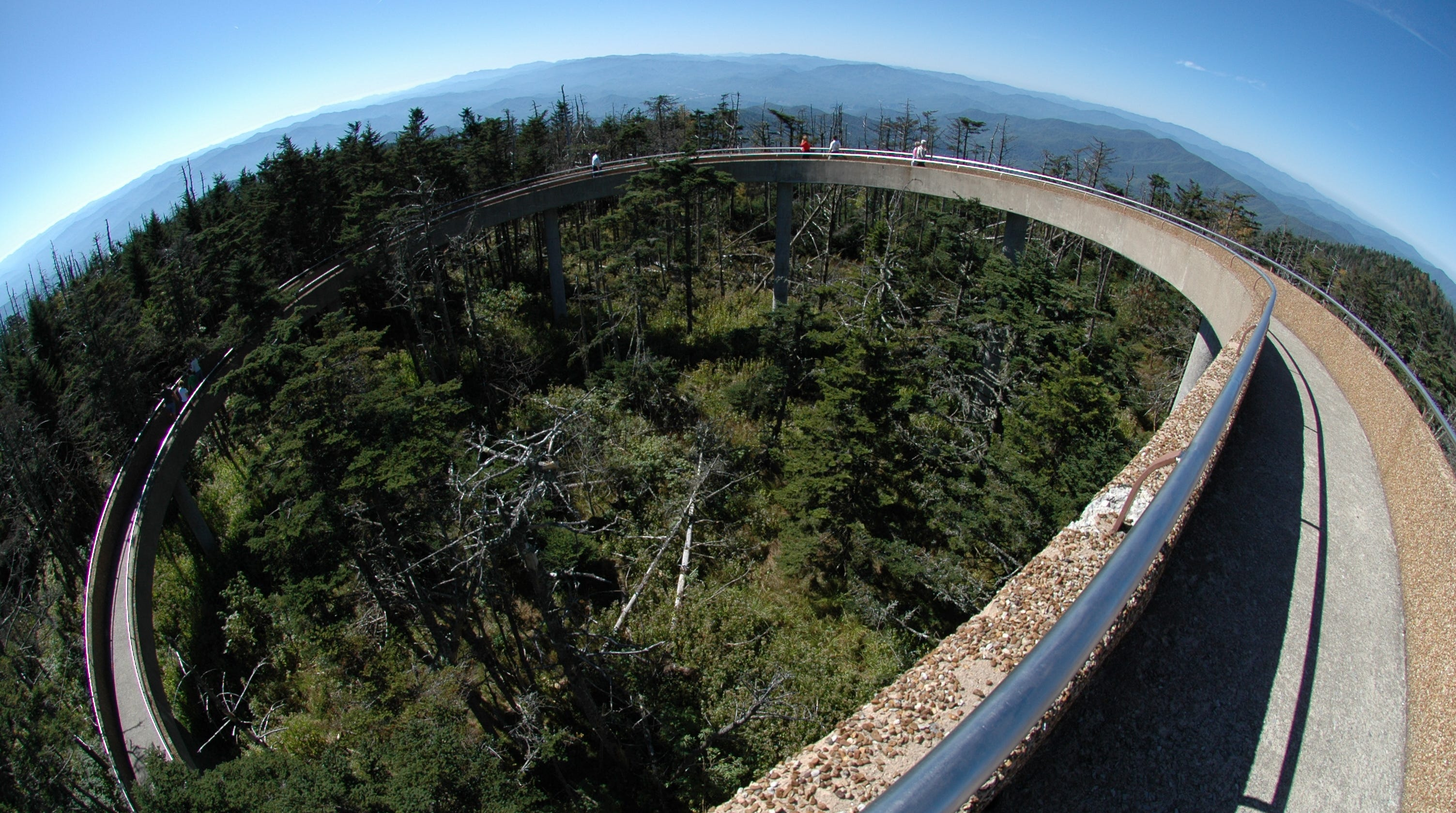 Clingmans Dome Observation Tower in the Great Smoky ...
