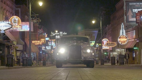 "With director Eugene Jarecki and other artists as passengers, Elvis' 1963 Rolls-Royce takes a musical journey down Beale Street and across America in ""The King."""