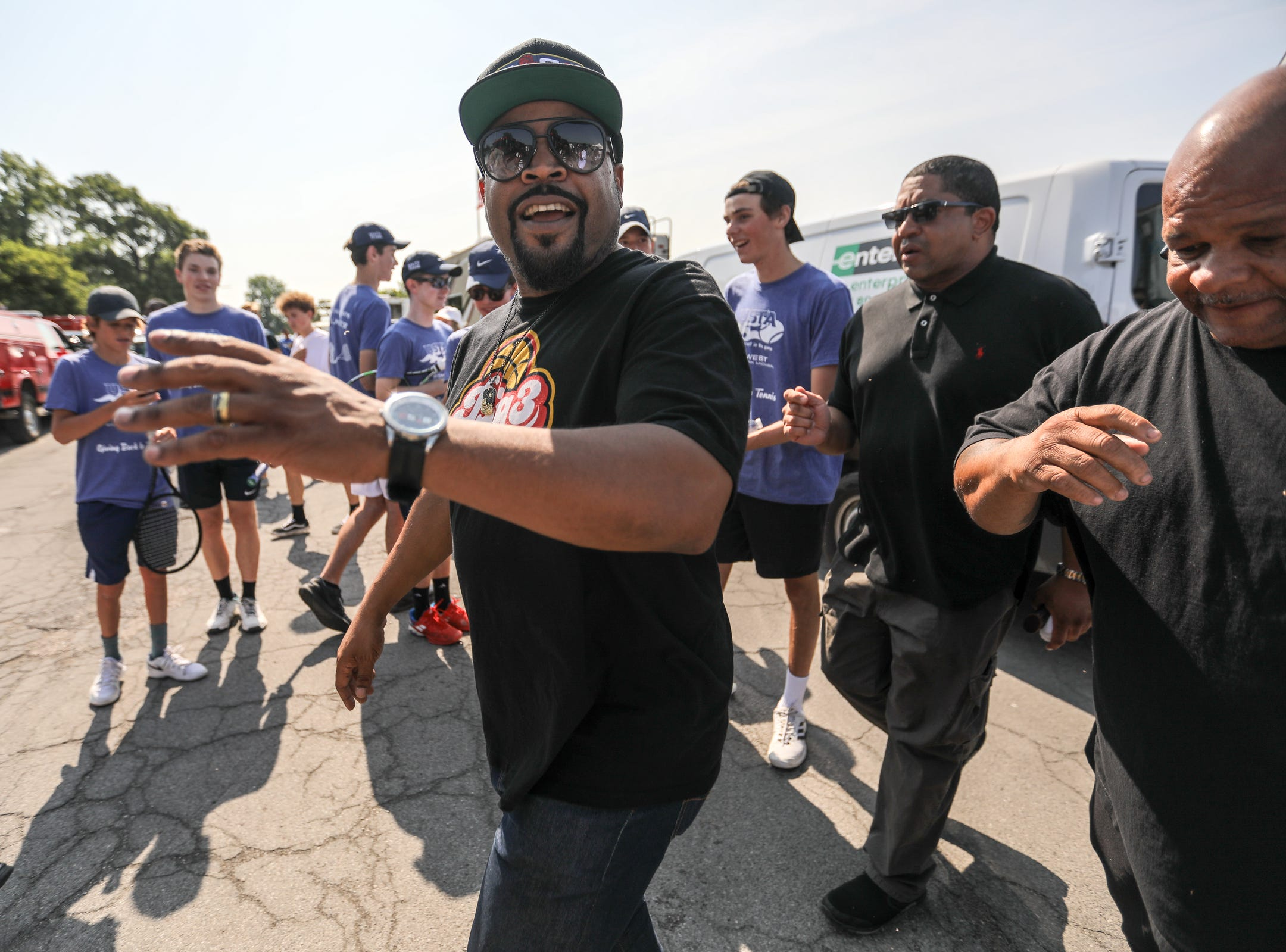 Entertainer Ice Cube makes an appearance during Metro Detroit Youth Day at Belle Isle in Detroit on Wednesday, July 11, 2018.