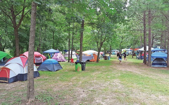 Camping is available at the festival on a first-come first-served basis.