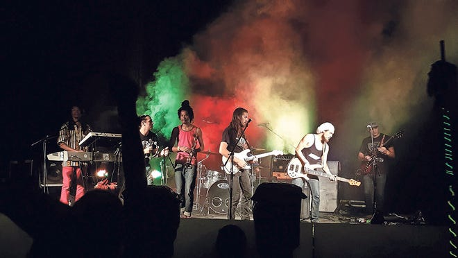 Roots of a Rebellion performed at Reggae at Smooth Rapids in 2017.