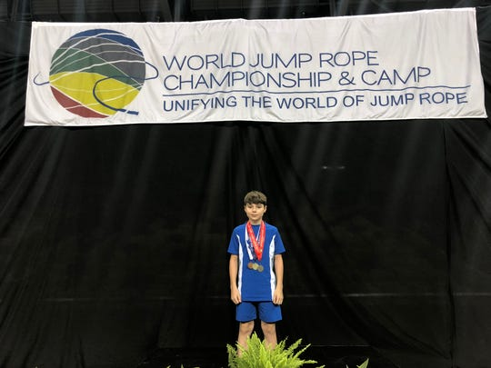 Brady Siebert of the Hot Shots of Tennessee was a big winner at the World Jump Rope Championships, held July 2-6 in Orlando, Florida.