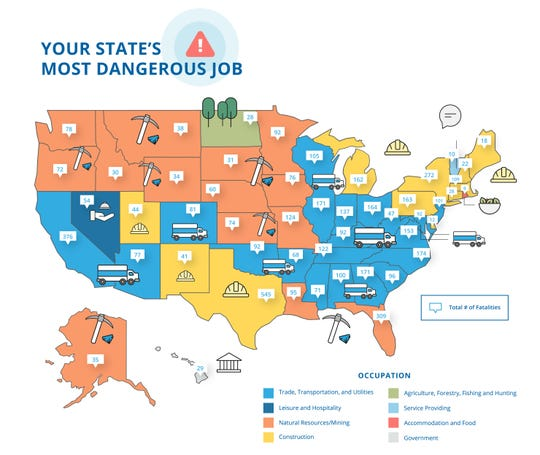 TermLife2Go tallied each state's workplace fatalities. See the full report at www.TermLife2Go.com.