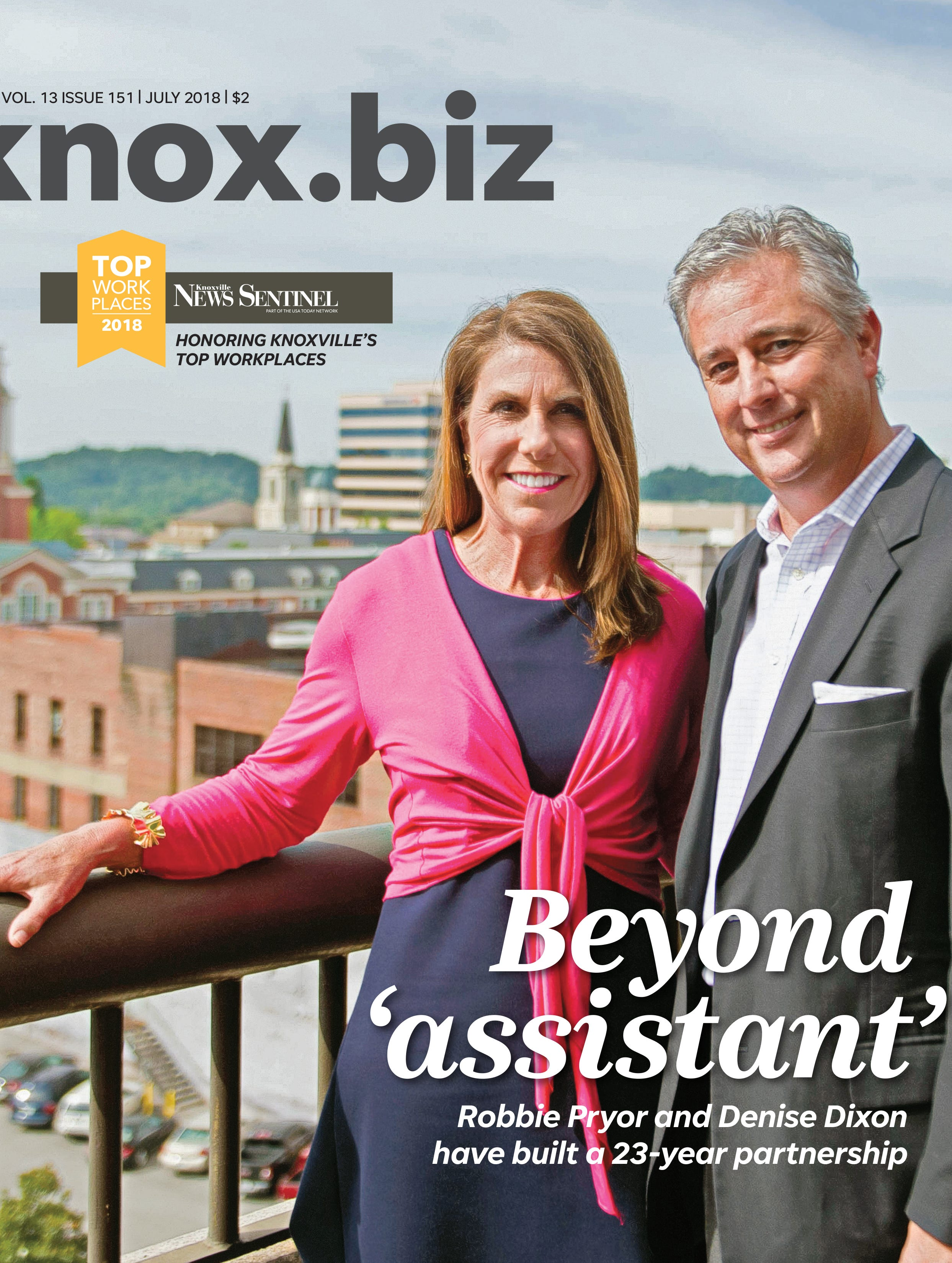 The July 2018 cover of Knox.biz magazine.