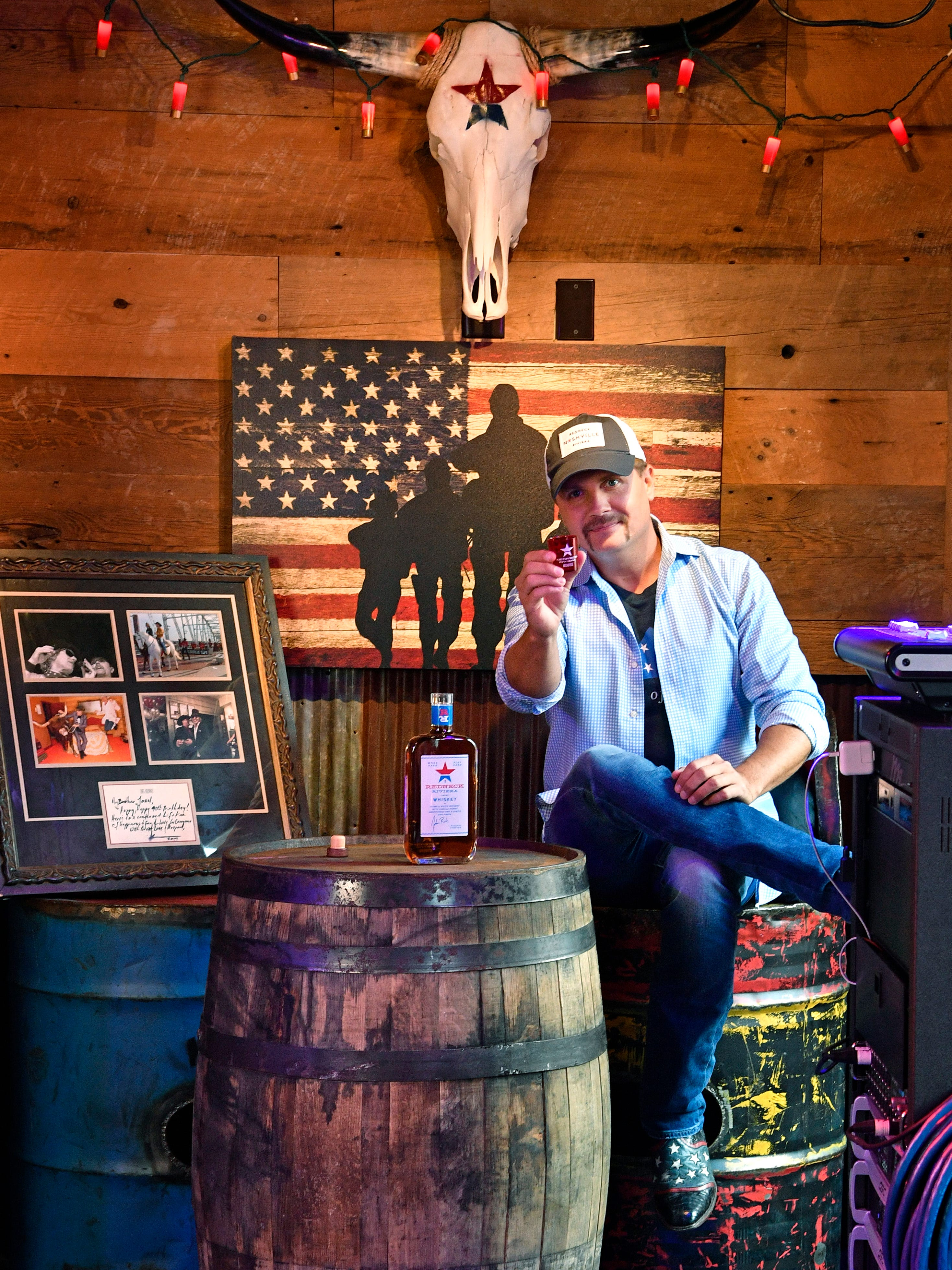 John Rich's Redneck Riviera is now open at 208 Broadway.John sits in this corner where he can talk to fans passing by on Broadway through a window and keep an eye on the band, and even jump in for a set from time to time.Wednesday July 11, 2018, in Nashville, Tenn.