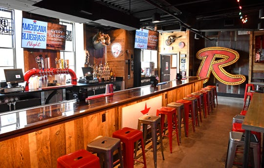 The bar on the second floor of John Rich's Redneck Riviera. The new bar is located at 208 Broadway