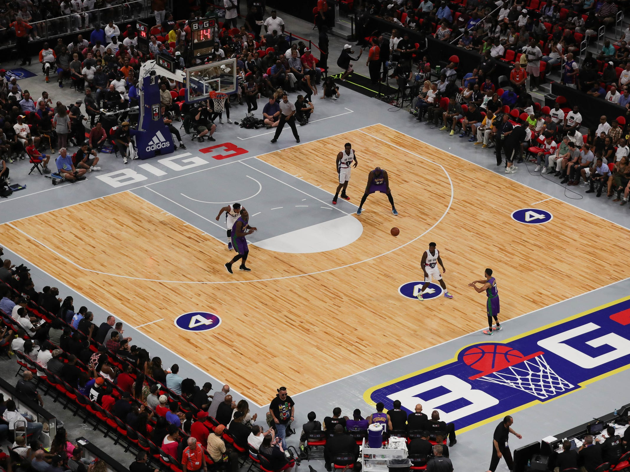 Overall during the Ball Hogs vs 3s Company's on Friday, July 13, 2018 at Little Caesars Arena in Detroit.