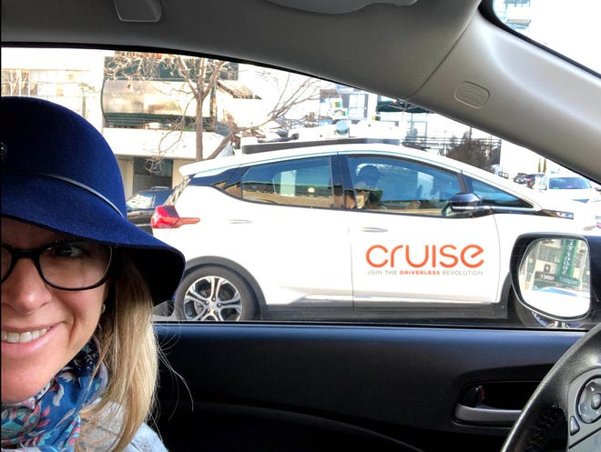San Francisco resident Stacey Randecker Bartlett sees GM Cruise AVs several times a day on the streets.