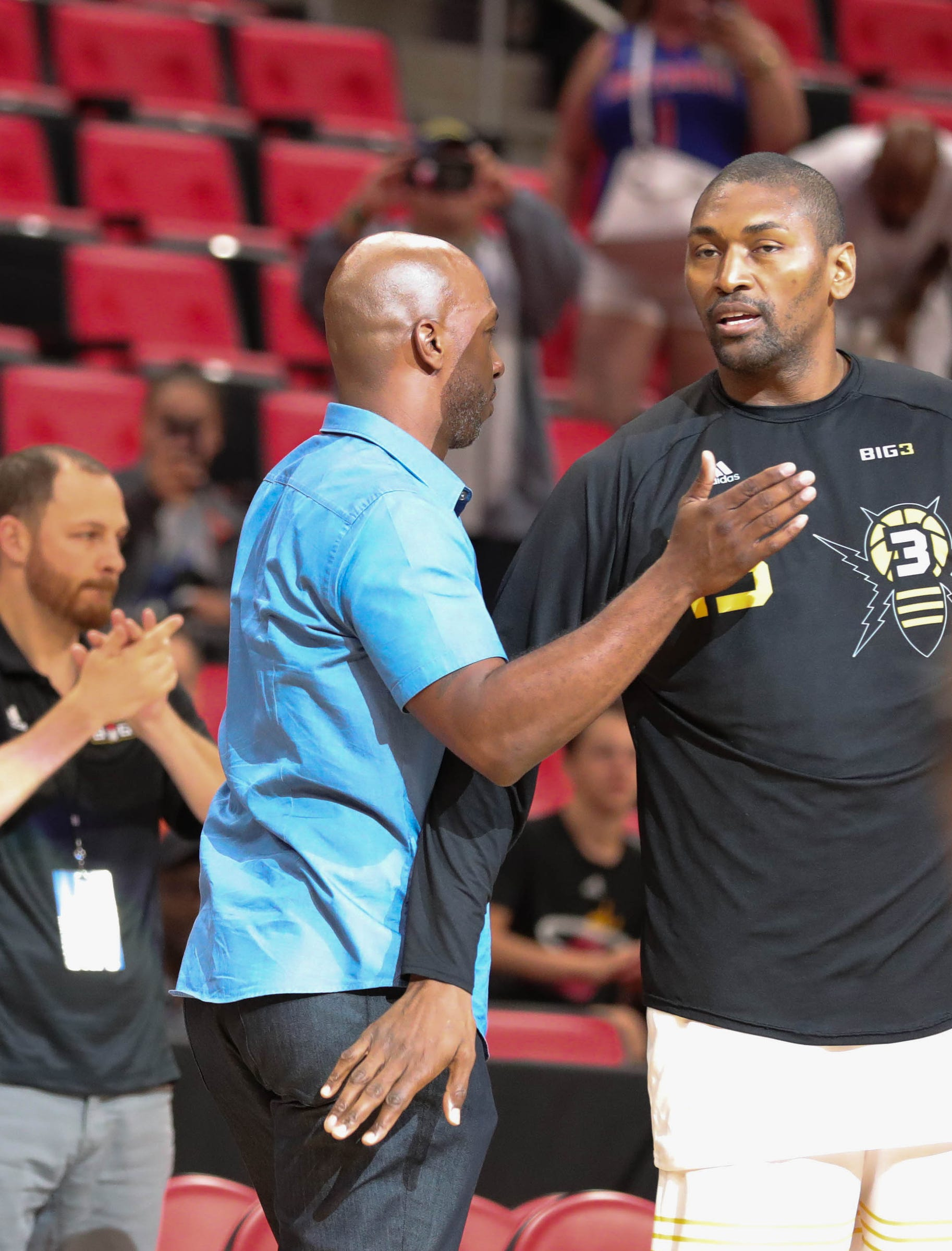 Chauncey Billups And Metta World Peace Before Big Action On Friday July