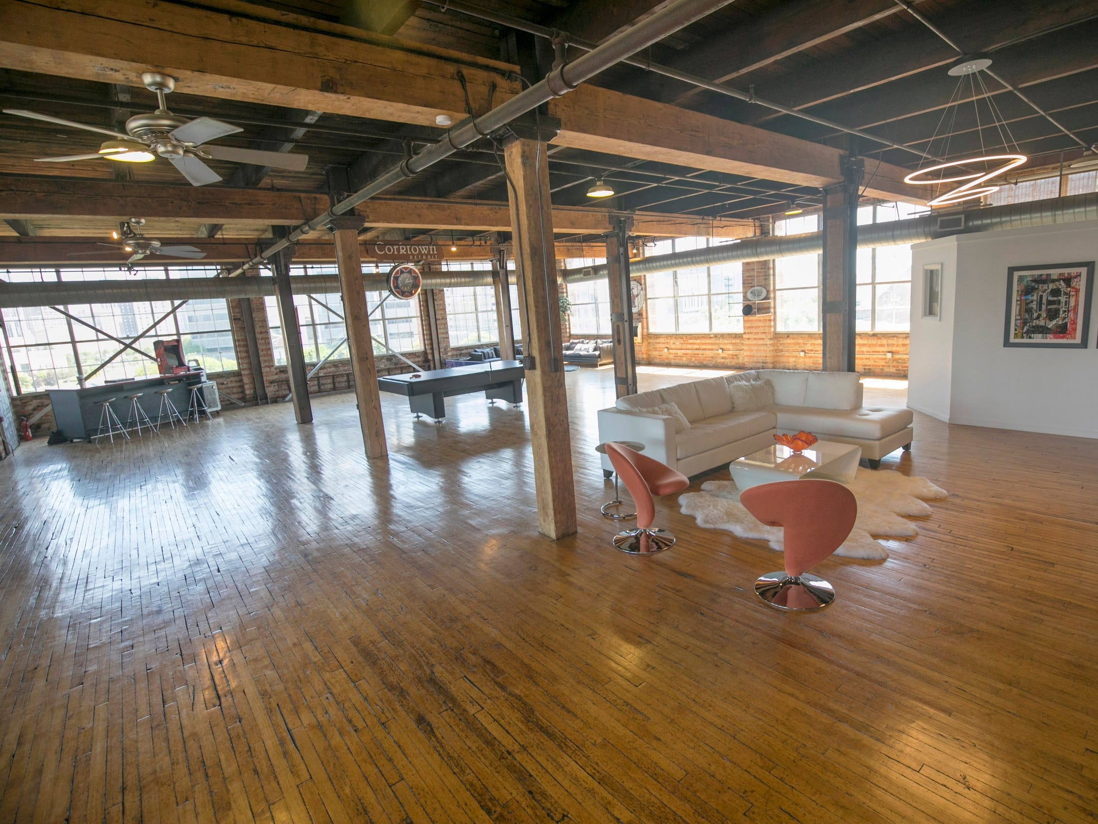 This loft is the whole fourth floor of the historic Westinghouse Building.