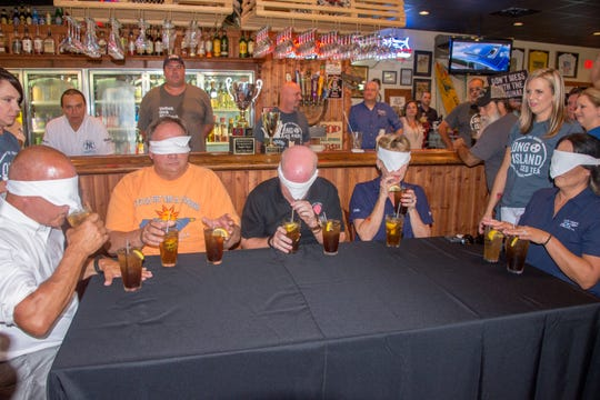 "Scenes from the second round of the ""Best Long Island Iced Tea"" competition in Kingsport, Tennessee on Friday, July 13, 2018."