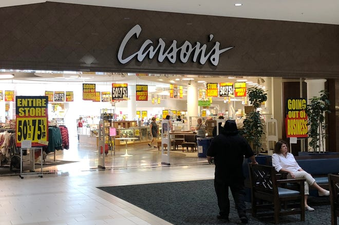 Carson's department store, located at Laurel Park Place mall in Livonia, is going out of business.