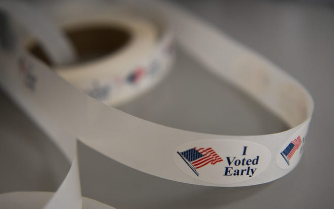 Turnout for early voting was high in Tennessee on Wednesday, the first day of early voting.